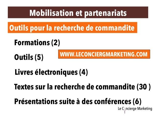 Outils pour la recherche de commandite Formations (2) Livres électroniques (4) Textes sur la recherche de commandite (30 )...