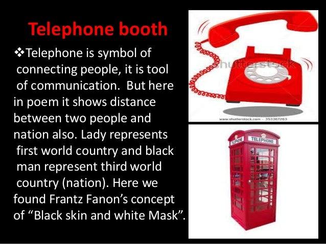 telephone conversation poem structure