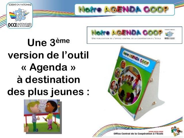 Une 3ème version de l'outil « Agenda » à destination des plus jeunes :