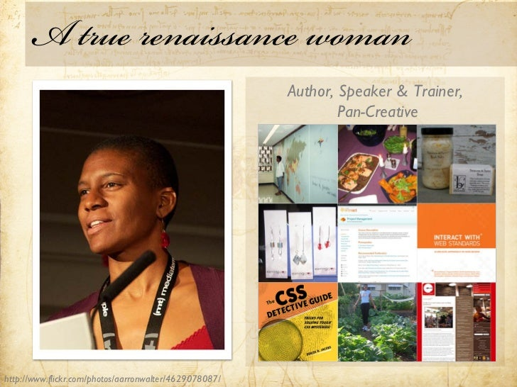 A true renaissance woman                                                        Author, Speaker & Trainer,                ...