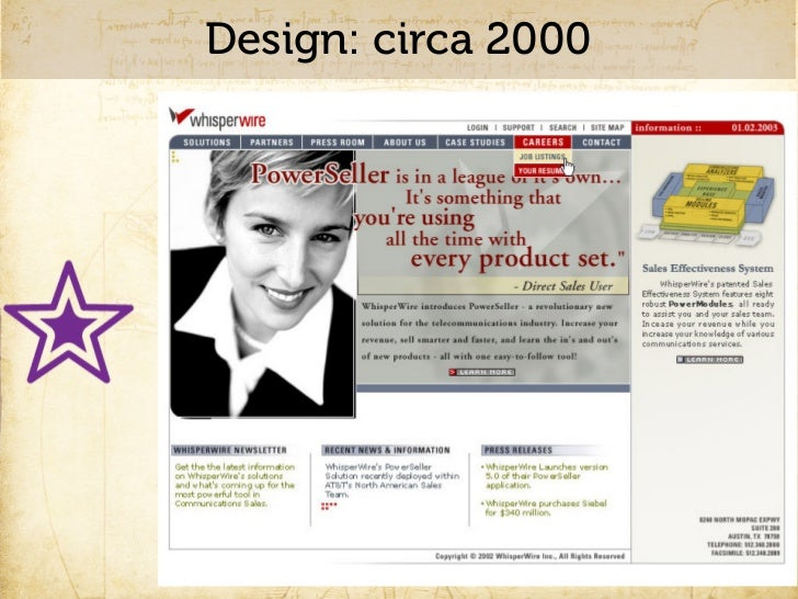 Design: Flash websites, circa 2000