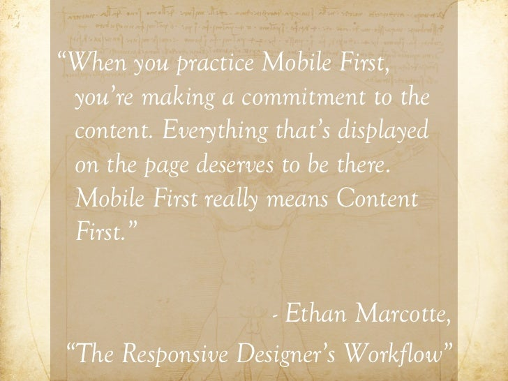 3 Components of Responsive Design1) Flexible grid2) Flexible images3) Media Queries                      http://www.flickr...