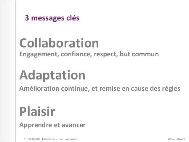 Collaborer, et si on improvisait ?  Slide 3