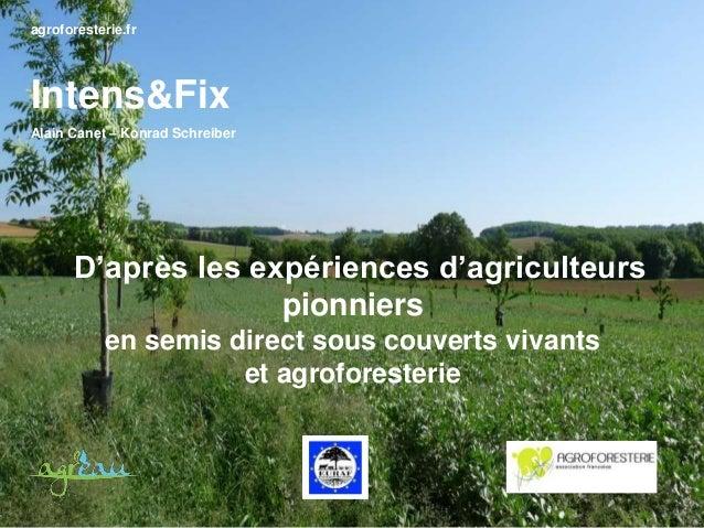 agroforesterie.fr Intens&Fix Alain Canet – Konrad Schreiber D'après les expériences d'agriculteurs pionniers en semis dire...