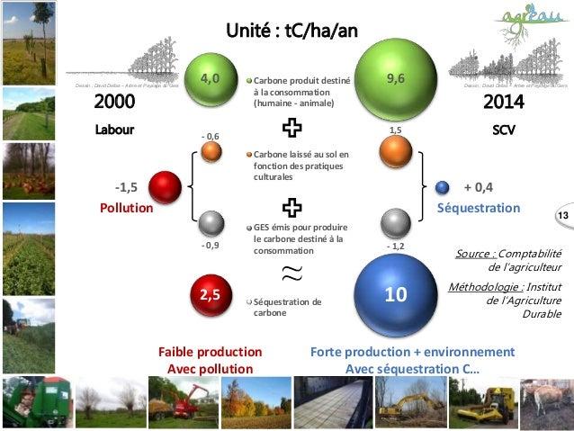 13 Carbone produit destiné à la consommation (humaine - animale) Carbone laissé au sol en fonction des pratiques culturale...