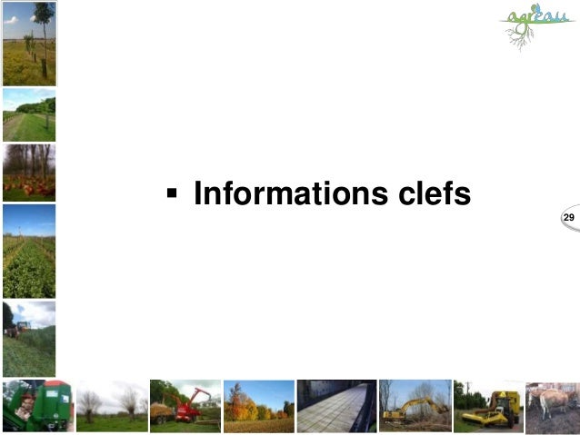  Informations clefs 29
