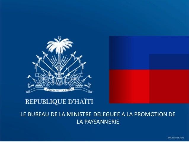LE  BUREAU  DE  LA  MINISTRE  DELEGUEE  A  LA  PROMOTION  DE   LA  PAYSANNERIE     BPM_12061101_...