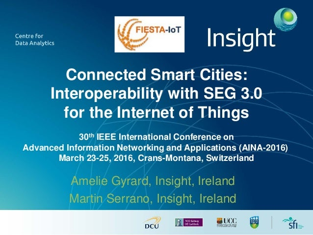 Connected Smart Cities: Interoperability with SEG 3.0 for the Internet of Things 30th IEEE International Conference on Adv...