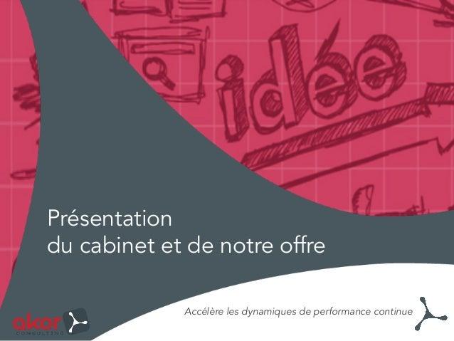 Présentation du cabinet et de notre offre Accélère les dynamiques de performance continue