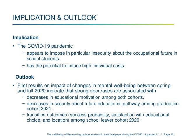 Education - One Year into the COVID Pandemic, Alexander Patzina