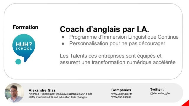 Alexandre Glas Awarded French most innovative startups in 2014 and 2015, involved in HR and education tech changes. Twitte...