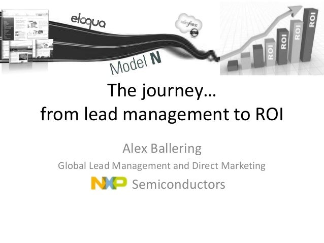 The journey…from lead management to ROI              Alex Ballering Global Lead Management and Direct Marketing           ...