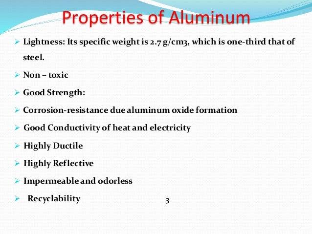 Aluminium Processing Properties And Application