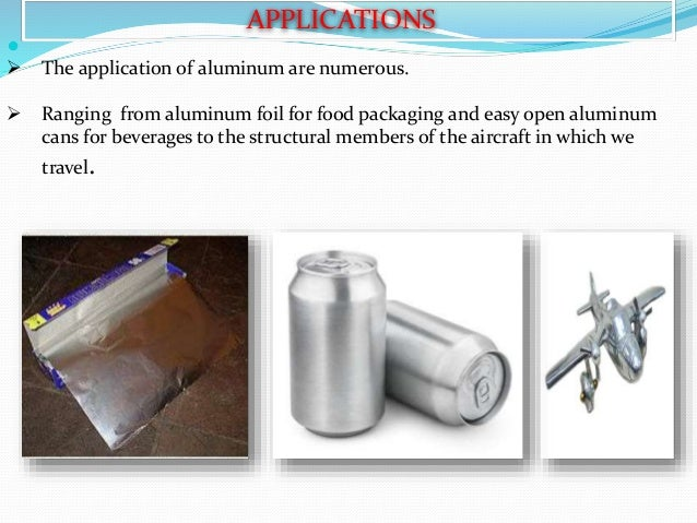 Aluminium Processing Properties And Application