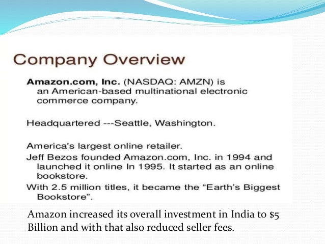amazon online shopping store in india ppt presentation
