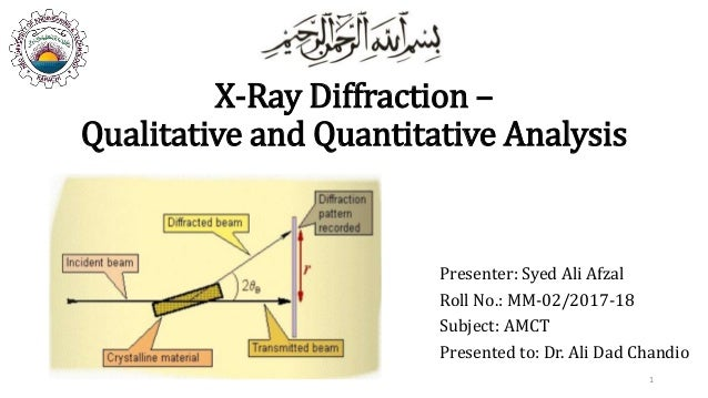 X-Ray Diffraction - Qualitative and Quantitative Analysis