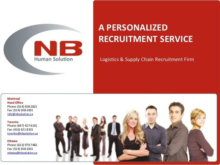A PERSONALIZED                        RECRUITMENT SERVICE                        Logistics & Supply Chain Recruitment Firm...