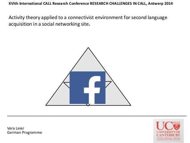 Activity theory applied to a connectivist environment for second language acquisition in a social networking site. _______...