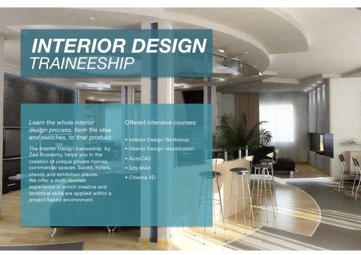 Interior design traineeship