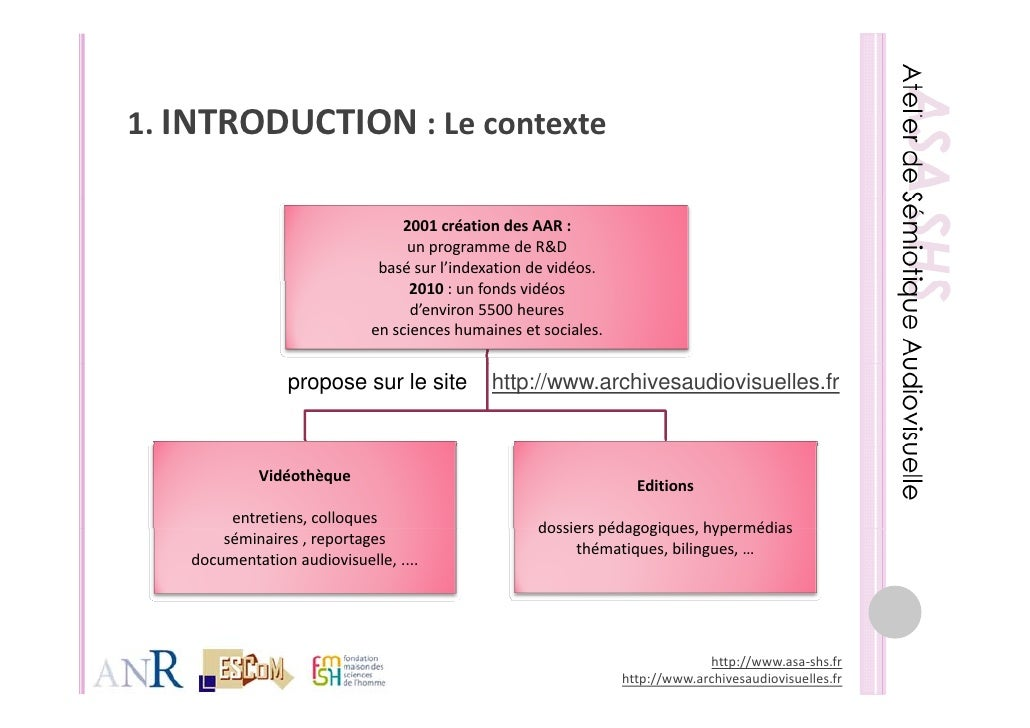 ASA-SHS - Présentation de l'atelier Archives Rencontre des Cultures Slide 2