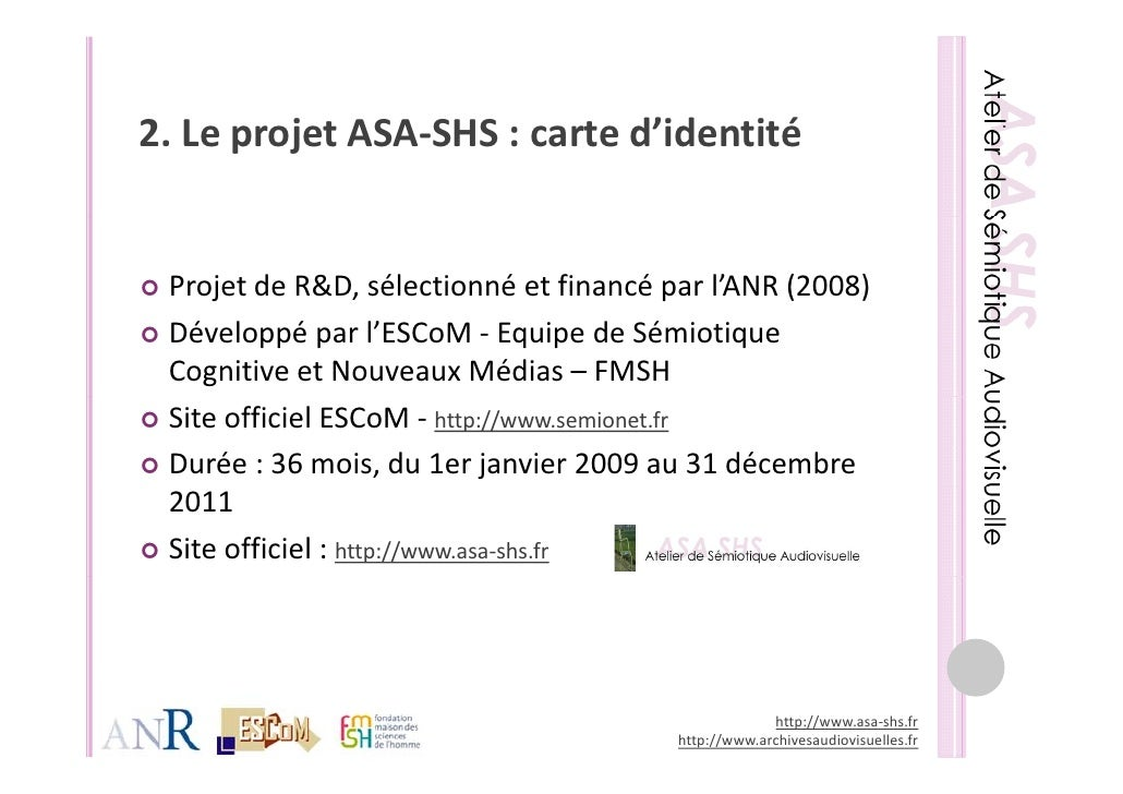 ASA-SHS - Présentation de l'atelier Archives Rencontre des Cultures Slide 3