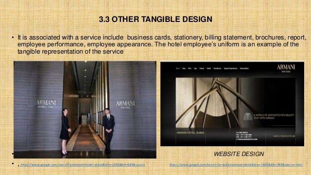 3.3 OTHER TANGIBLE DESIGN • It is associated with a service include business cards, stationery, billing statement, brochur...
