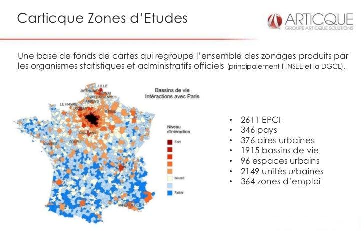 Carticque Zones d'EtudesUne base de fonds de cartes qui regroupe l'ensemble des zonages produits parles organismes statist...