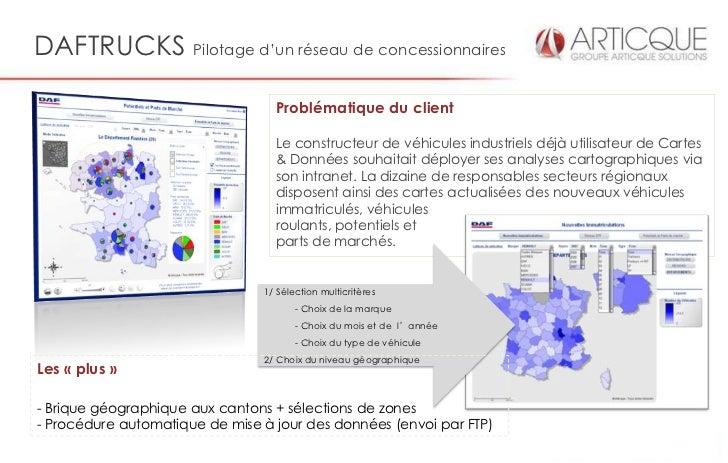 DAFTRUCKS Pilotage d'un réseau de concessionnaires                                  Problématique du client               ...