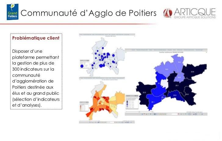 Communauté d'Agglo de PoitiersProblématique clientDisposer d'uneplateforme permettantla gestion de plus de300 indicateurs ...