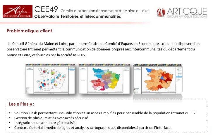 CEE49 Comité d'expansion économique du Maine et Loire                 Observatoire Territoires et IntercommunalitésProblém...