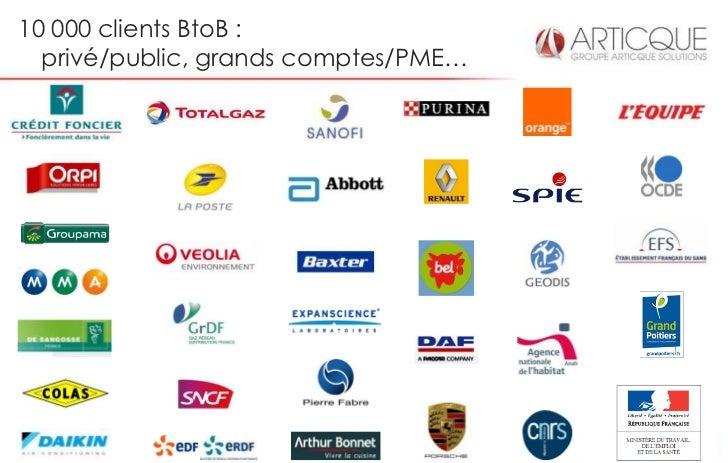 10 000 clients BtoB :  privé/public, grands comptes/PME…