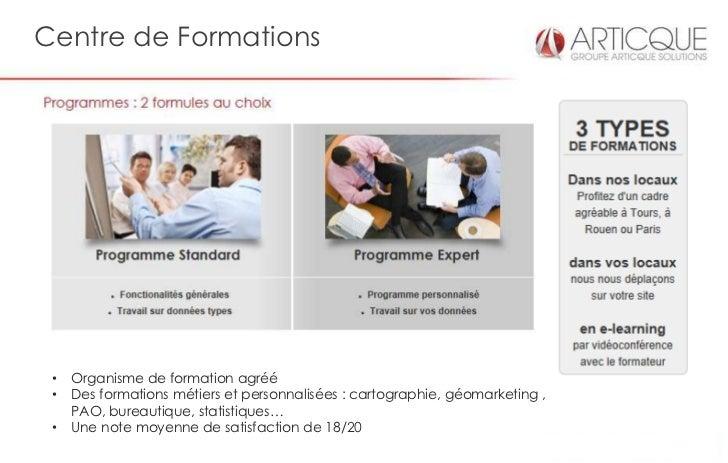 Centre de Formations •   Organisme de formation agréé •   Des formations métiers et personnalisées : cartographie, géomark...