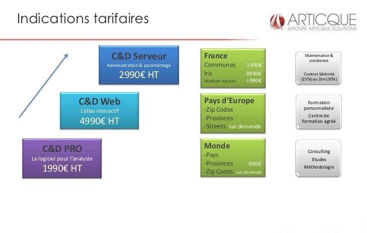 Indications tarifaires                                     C&D Serveur                  France                          Ma...