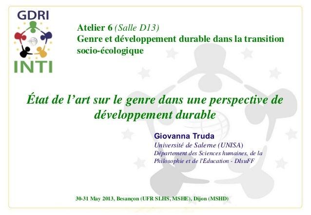 Giovanna TrudaUniversité de Salerne (UNISA)Département des Sciences humaines, de laPhilosophie et de lEducation - DIsuFF́É...