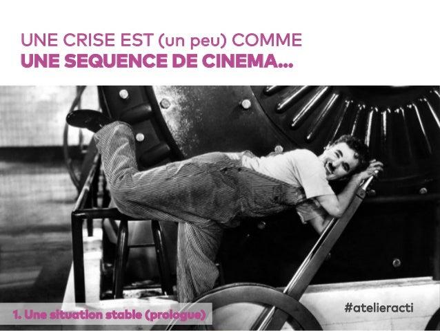 18 UNE CRISE EST (un peu) COMME UNE SEQUENCE DE CINEMA… 1. Une situation stable (prologue) #atelieracti