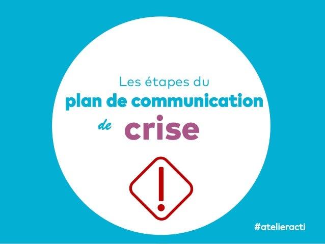 48 Les étapes du plan de communication de crise #atelieracti