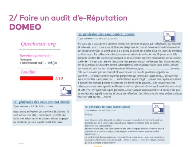 53 2/ Faire un audit d'e-Réputation DOMEO