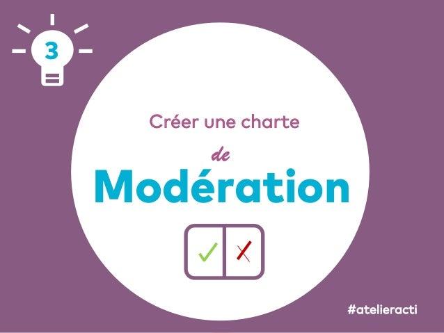 58 Créer une charte de Modération 3 #atelieracti