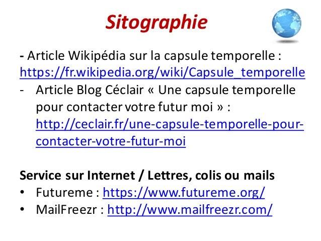 Présentation Capsule Temporelle