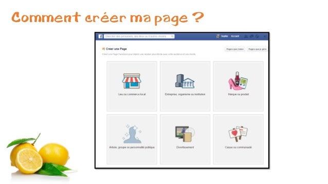 Comment créer ma page ?