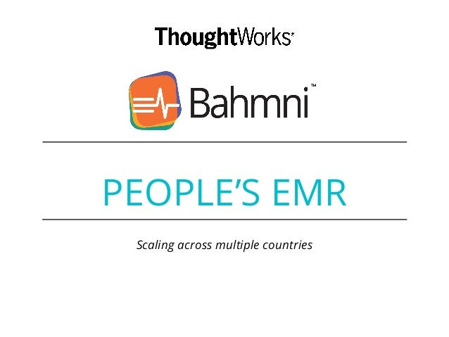 PEOPLE'S EMR Scaling across multiple countries