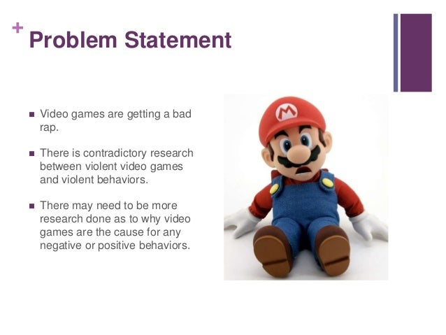 Video game violence research paper
