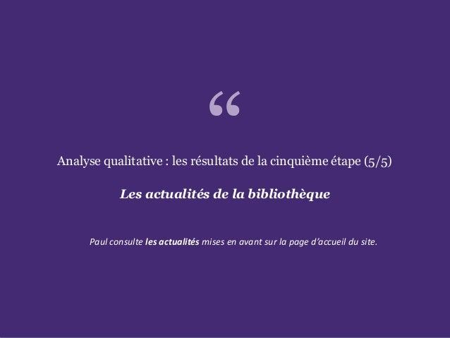 L'accessibilité des portails de bibliothèques Paris. Ministère de la Culture et de la Communication Analyse qualitative : ...
