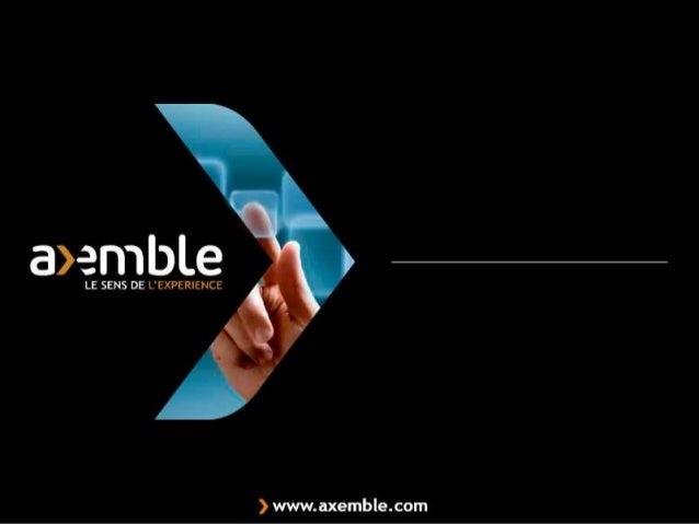 Ordre du jourPrésentation AxembleLa solution PDM proposée par AXEMBLELes problématiquesLa solutionIntégration au système d...