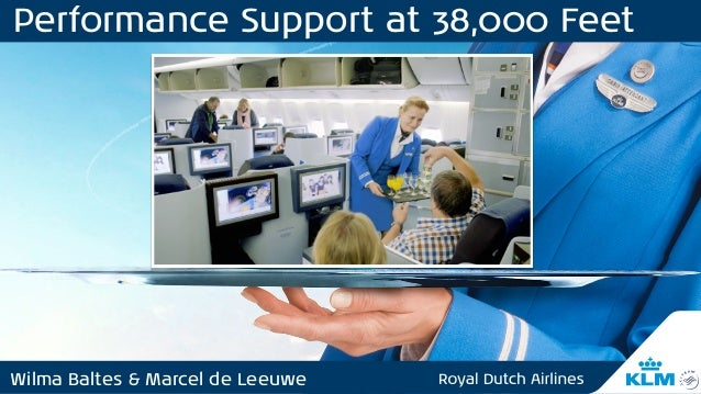 Wilma Baltes & Marcel de Leeuwe Performance Support at 38,000 Feet