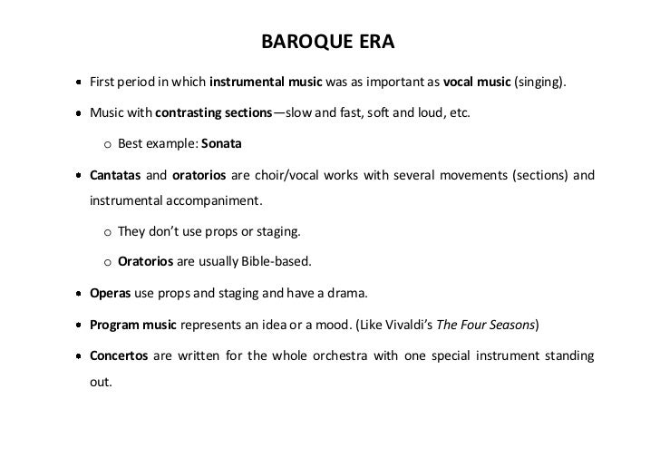 Baroque era presentation for What is the baroque period