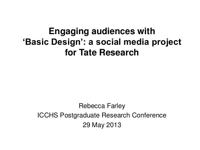 Engaging audiences with'Basic Design': a social media projectfor Tate ResearchRebecca FarleyICCHS Postgraduate Research Co...