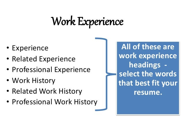 Work Experience Choose Resume Examples Awesome 10 Top