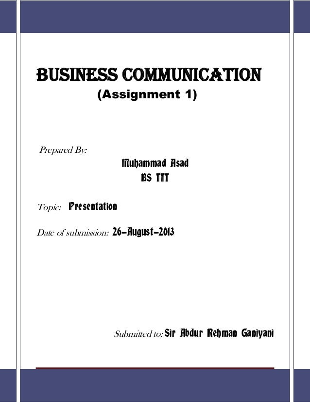 business communication assignment topics