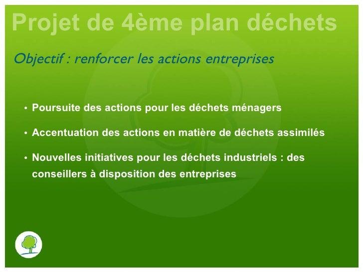 Projet de 4e plan de pr vention et gestion des d chets en for Projet de plan